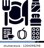 set of 6 food filled icons such ... | Shutterstock .eps vector #1204398298