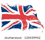 Uk Or Britain Flag Grunge...