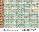 colorful multi effect textile... | Shutterstock . vector #1204400992