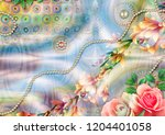 colorful multi effect textile... | Shutterstock . vector #1204401058