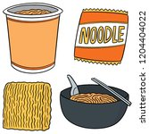 vector set of noodle | Shutterstock .eps vector #1204404022