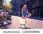 stylish shopaholic. stylish... | Shutterstock . vector #1204408888