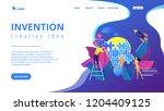business team doing lightbulb... | Shutterstock .eps vector #1204409125