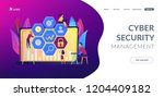 cyber security risk analysts... | Shutterstock .eps vector #1204409182