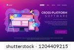 developers use software on... | Shutterstock .eps vector #1204409215