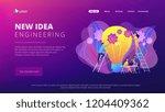 business team putting gears on... | Shutterstock .eps vector #1204409362