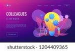 huge lightbulb and business... | Shutterstock .eps vector #1204409365
