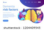 patient with thought bubble and ... | Shutterstock .eps vector #1204409545