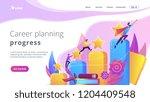 businessmen climb growth column ... | Shutterstock .eps vector #1204409548