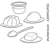 vector set of jelly | Shutterstock .eps vector #1204412932