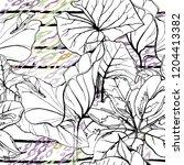 tropical  stripe  animal motif. ...   Shutterstock .eps vector #1204413382