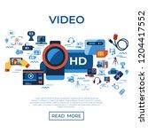 digital vector video on demand... | Shutterstock .eps vector #1204417552