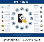 digital vector rfid radio... | Shutterstock .eps vector #1204417675