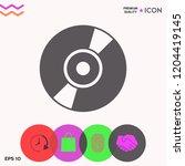 cd  dvd symbol icon   Shutterstock .eps vector #1204419145