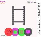 camera roll  photographic film  ... | Shutterstock .eps vector #1204421122