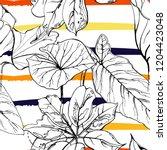 tropical  modern stripes motif. ...   Shutterstock .eps vector #1204423048