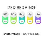 nutrition facts per serving... | Shutterstock .eps vector #1204431538