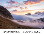 great view of the foggy valley... | Shutterstock . vector #1204434652