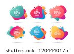 up to 60  discount. sale offer... | Shutterstock .eps vector #1204440175