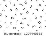 pattern. seamless memphis... | Shutterstock .eps vector #1204440988