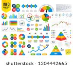business infographic template.... | Shutterstock .eps vector #1204442665