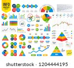 business infographic template.... | Shutterstock .eps vector #1204444195