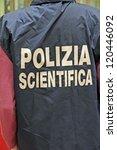 italian scientific police... | Shutterstock . vector #120446092