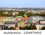 view of riga  powder tower and... | Shutterstock . vector #1204474435