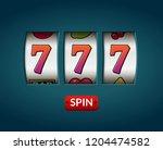 lucky seven 777 slot machine....   Shutterstock . vector #1204474582