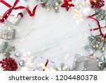 christmas silver handmade gift... | Shutterstock . vector #1204480378