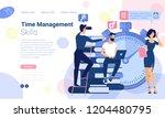 flat design web page design... | Shutterstock .eps vector #1204480795