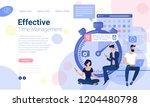 flat design web page design... | Shutterstock .eps vector #1204480798