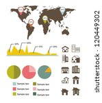 infographics of  houses over... | Shutterstock .eps vector #120449302