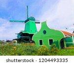 lumber windmill wooden... | Shutterstock . vector #1204493335