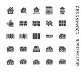 roofing flat glyph icons. house ... | Shutterstock .eps vector #1204495582