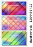 paper cut banners with liquid... | Shutterstock .eps vector #1204499422