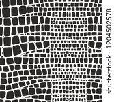 snake skin. vector black and... | Shutterstock .eps vector #1204502578
