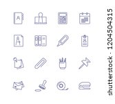 stationery line icon set....   Shutterstock .eps vector #1204504315