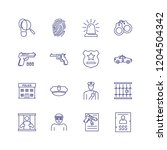 policing line icon set....   Shutterstock .eps vector #1204504342