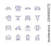 transport line icon set. train  ... | Shutterstock .eps vector #1204505272