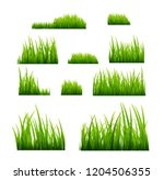 green grass illustration... | Shutterstock . vector #1204506355