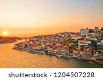 magnificent sunset over the... | Shutterstock . vector #1204507228