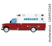 ambulance car. an emergency... | Shutterstock .eps vector #1204515265