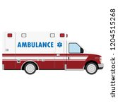 ambulance car. an emergency... | Shutterstock .eps vector #1204515268