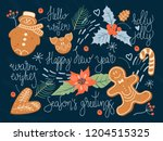 christmas and happy new year... | Shutterstock .eps vector #1204515325