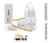 vector illustration. concrete... | Shutterstock .eps vector #1204516522
