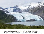 Small photo of Portage Glacier and Portage Lake views outside of Anchorage, Alaska. Easily accessible views from Portage Pass Trail.