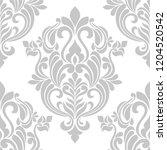 floral damask seamless pattern.   Shutterstock .eps vector #1204520542