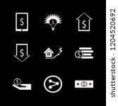 wealth icon. wealth vector... | Shutterstock .eps vector #1204520692