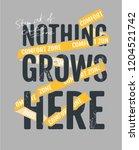 comfort zone slogan with yellow ... | Shutterstock .eps vector #1204521742